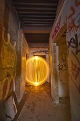 Corridor lurker (- Hob -) Tags: longexposure lightpainting abandoned night raw possible derelict newcastleupontyne urbex elswick leadworks lightjunkies