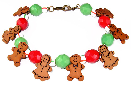 Gingerbread Family bracelet