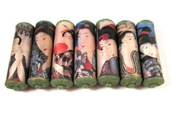 RESERVED FOR CASSIATREESTUDIOS Asian Ladies Cylinder Beads