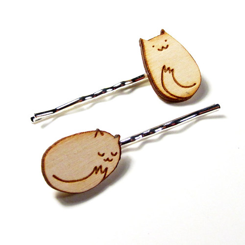 Itty Bitty Kitty Hairpins 2