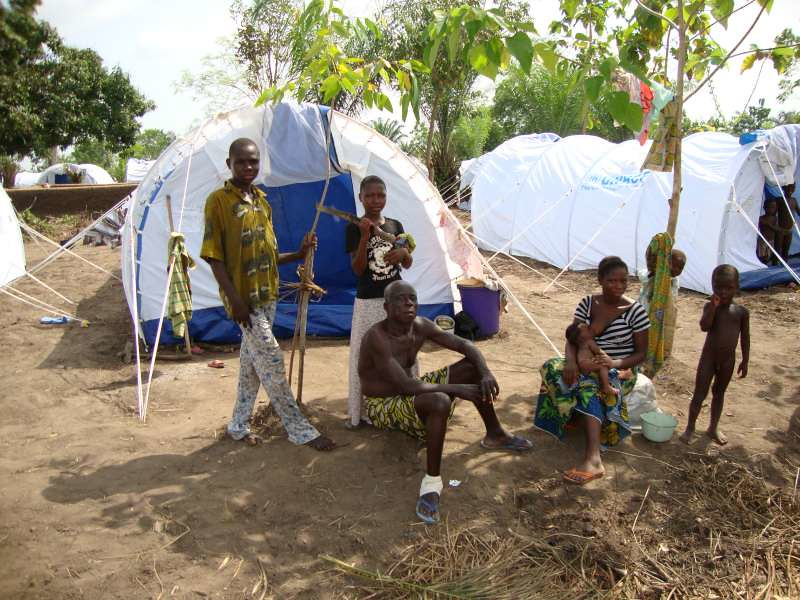 UNHCR News Story: Hundreds of Benin flood victims find shelter in UNHCR tents