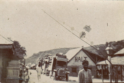 Unidentified location. Checkpoint. British India? 1920?