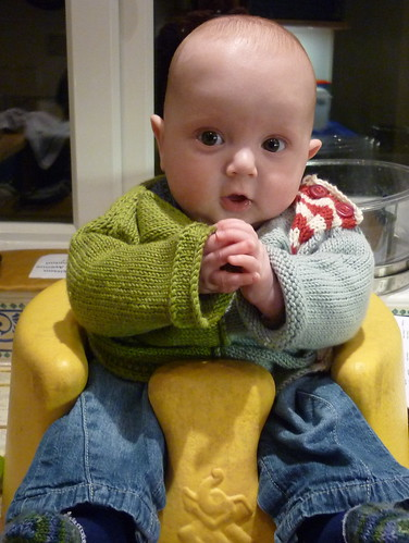 Thomas in his Emil(ia) jumper