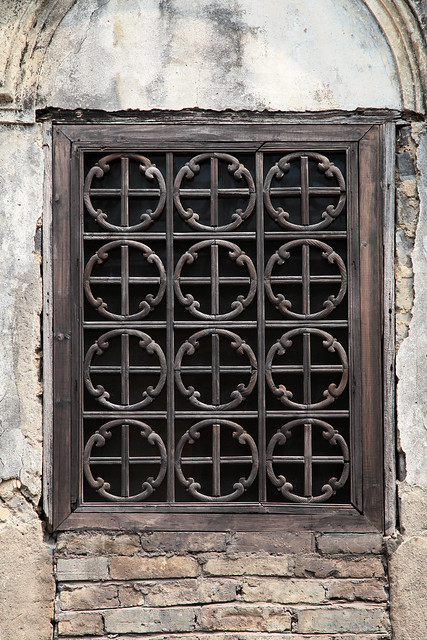 Old window in Fuli village, China
