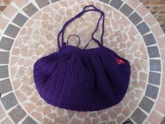 I add the straps to the fat bag (crochetbug13) Tags: crochet cascade220 fatbag samantasfatbag