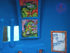 "TEENAGE MUTANT NINJA TURTLES :: ""Technodrome Scout Vehicle"" { 1993 } KB Toys Reissue // ..detail xiv   (( 1998 ))"