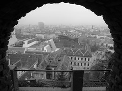 Graz through the arch