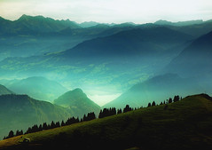 Love mountains... (ceca67) Tags: world blue mountain green art beauty landscape switzerland europe fineart distance paysage 2010 rigi ceca coth fantasticnature theunforgettablepictures