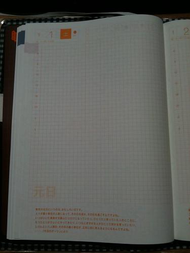 ほぼ日手帳 デイリーページ