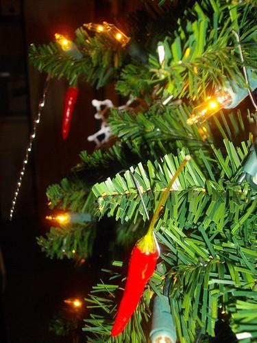 Chili Pepper Christmas Tree Ornaments