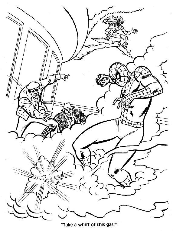 Spider-Man Unmasked! Coloring Book013