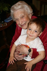 Avi and Nanny on Thanksgiving