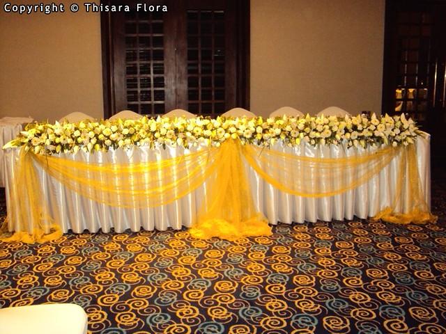 Wedding Head Table Decorations From Thisara Flora Sri Weddings Topic