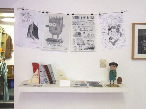 Zine shelf