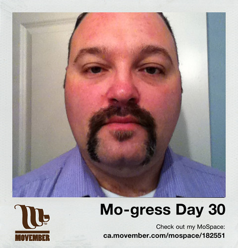 Day 30 of my Movember mo-gress!