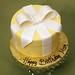 Yellow & white gift box