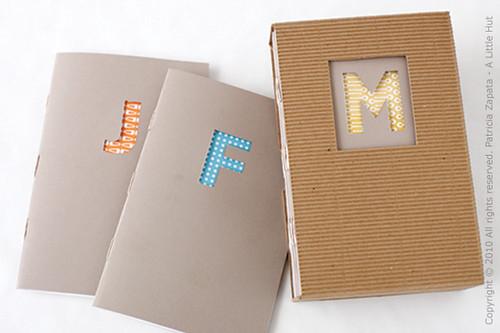 monogrammed journals set