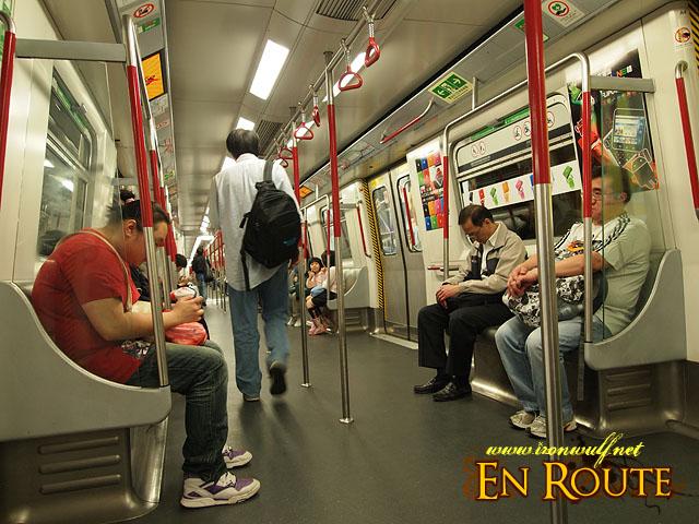 A less crowded Hong Kong MTR