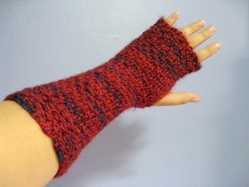 Rocky Road fingerless mitts