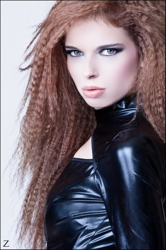 April Headshot (Zairia's Photography) Tags: fetish hair studio latex crimped  wetlook phy