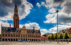 THE GLORY (aminekaytoni) Tags: louvain leuven belgique belgium belgie europe architecture grande place grote markt sky trees canon 50d 17 85mm light magic summer green ladeuzeplein