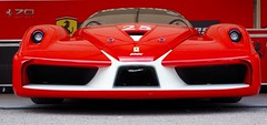 Ferrari FXX (Hammerhead27) Tags: lowpov 2017 festivalofspeed goodwood rosso red 25 spoiler nose front parked pits paddock track race car italian fxx ferrari