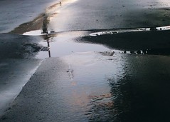 (Andrei Grigorev) Tags: road asphalt puddle reflection rain abstract texture charcoalcolor