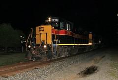 Minooka Nights (BravoDelta1999) Tags: iowainterstate iais railroad chicagorockislandandpacific crip railway csxt csx transportation rockisland newrocksubdivision minooka illinois emd gp382 716 bicb manifest train