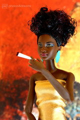 billy jean (photos4dreams) Tags: thenyflatp4d barbie mattel doll toy diorama photos4dreams p4d photos4dreamz barbies girl play fashion fashionistas outfit kleider mode puppenstube tabletopphotography aa beauties beautiful girls women ladies damen weiblich female funky afroamerican afro schnitt hair haare afrolook darkskin africanamerican