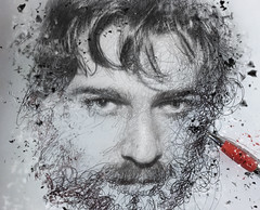 self-portrait (Antonio Iacobelli (Jacobson-2012)) Tags: selfportrait young pen dispersion effect