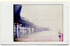 Pier (AndyWilson) Tags: sea film beach pier seaside fuji shingle mini pebbles diana eastbourne instant dianaf instax instantback