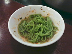 Spinach noodle with thaisuki sauce from Coca Restaurant @ Ueno