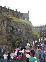 Sea of umbrellas, Edinburgh Castle