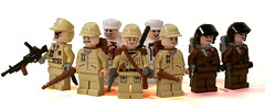 Japanese Army (*Nobodycares*) Tags: infantry army japanese lego wwii worldwarii 99 type ww2 soldiers guns knives spec troops lmg ops paratroopers worldwar2 brickarms aww2 brickforge minifigcat weirdwarii weirdwar2 awwii
