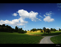 landscape (Dhoomakethu!!) Tags: nature clouds germany landscape bluesky greeen leonberg sigma1770 eos7d