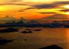 Hong Kong dawn (glasnevinz) Tags: orange clouds sunrise hongkong dawn aerial shipping southchinasea