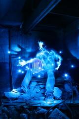 shadow zone acoustics ({ tcb }) Tags: blue shadow hand debris orb sphere urbanexploration gasmask rebar tcb rubble urbex ectro lapp magicalpowers lightjunkies twincitiesbrightest supersecretroombitches