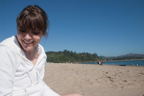 Crafting at Siletz Bay in Lincoln City, Oregon