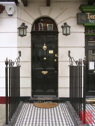 221b Baker Street Entrance