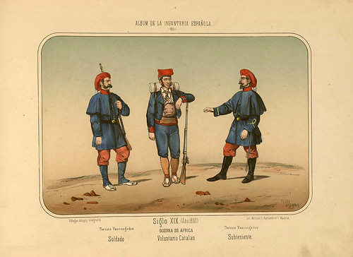 014- Álbum de la Infantería Española..-1861- conde de Clonard