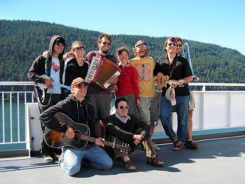 Busking on the Van Island Ferry