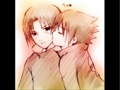 Itachi and Sasuke (darkvader76) Tags: brothers warriors naruto sasuke sharingan shinobi uchiha konoha akatsuki shonenjump itachi sannin narutoshippuden mangeko