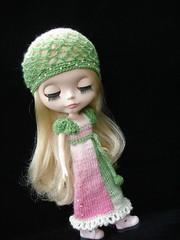 The KC maxi Dress and net beret