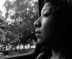 Uncertainty (Ivn Adrin) Tags: trip portrait bus window girl ventana perfil profile autobus viajar uncertainty