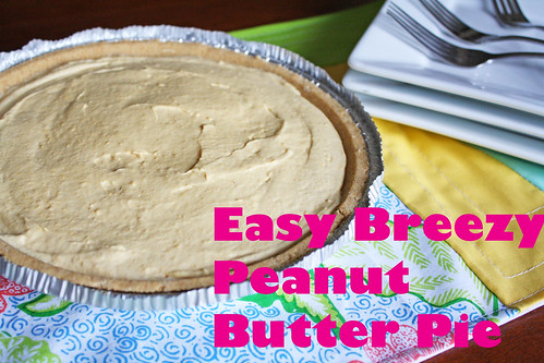 Super easy frozen peanut butter pie