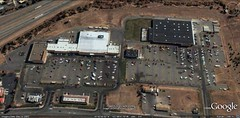 Yreka Walmart, right, and nearby strip center (via Google Earth)