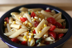 Pasta Salad with Tomatoes and Corn