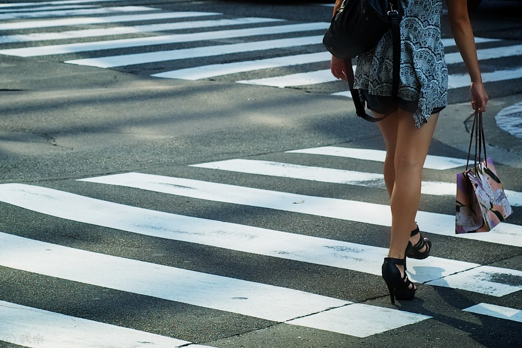 walk on a pedestrian crossing