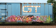 Baer (quiet-silence) Tags: railroad art train graffiti flat denver railcar boxcar graff gt freight tko gtw baer btr fr8 rockitscience gtw127121