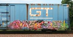 Baer (quiet-silence) Tags: railroad art train graffiti flat denver railcar boxcar graff gt freight tko gtw baer btr fr8 rockitscience gtw127121